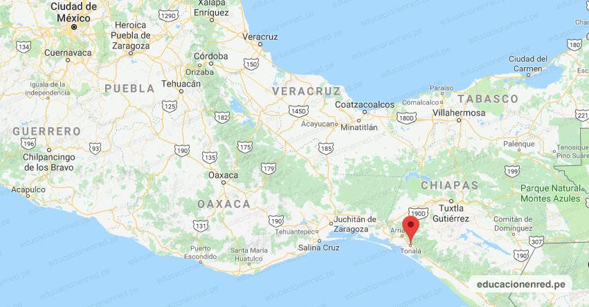 Temblor en México de Magnitud 3.9 (Hoy Miércoles 20 Mayo 2020) Sismo - Epicentro - Tonalá - Chiapas - CHIS. - SSN - www.ssn.unam.mx