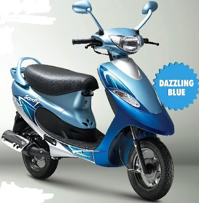 2016 TVS Scooty Pep Plus Hd Wallpaper Dazling blue color