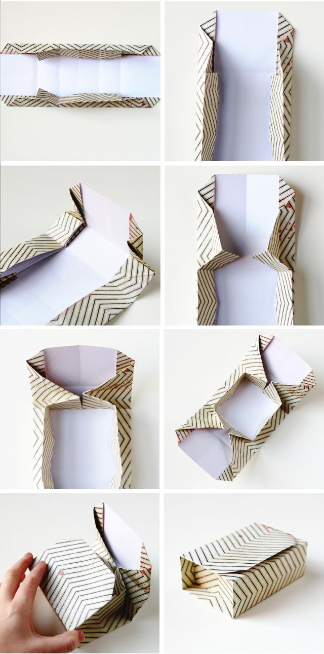 RECTANGULAR DIY ORIGAMI BOXES.