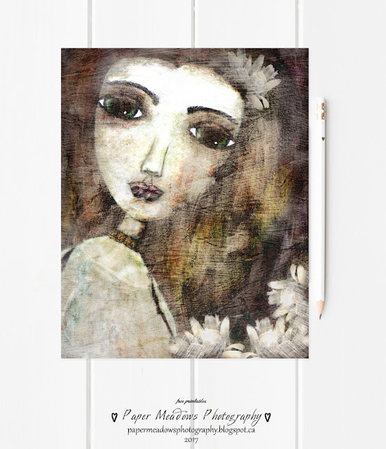 Paper Meadows Photography Blog-Free Printable-Mixed Media Art Girl