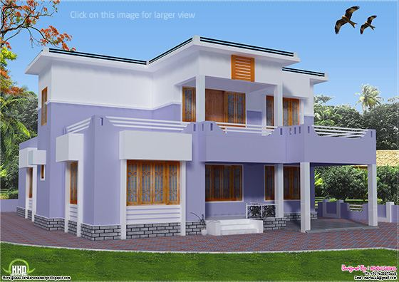 flat roof house design