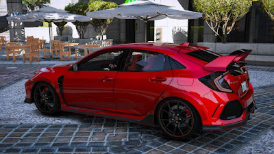 Download mod carro Honda Civic Type-R 2018 para GTA 5 - Lateral 2