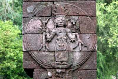 Candi Sukuh 'Sun God' relief, Indonesia