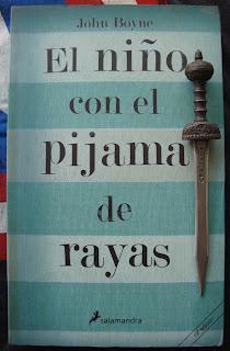 Portada del libro El niño con el pijama de rayas, de John Boyne