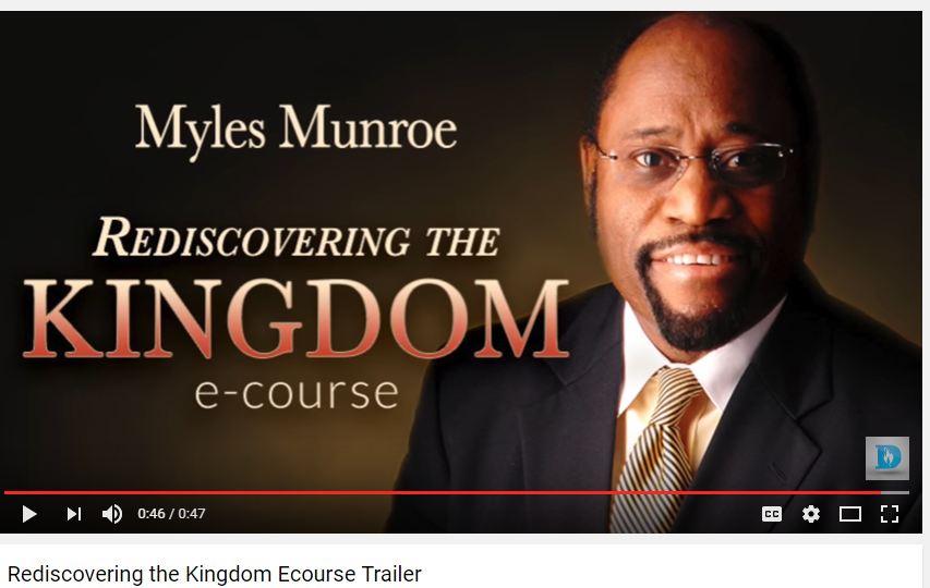 myles munroe rediscovering the kingdom pdf download