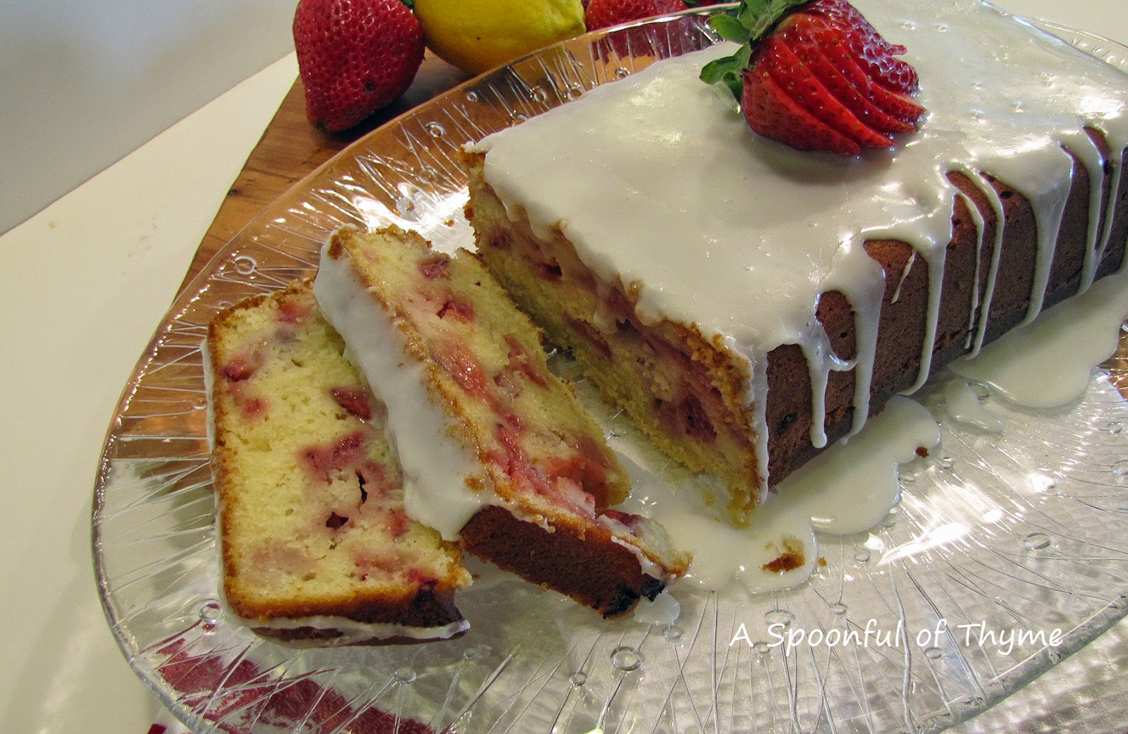 Loaf Cake Recipes Lemon: A Spoonful Of Thyme: Lemon Strawberry Loaf Cake