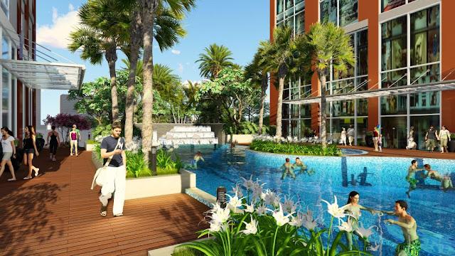 không gian xanh Hinode City Minh Khai