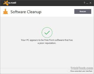 تنزيل برنامج مسح البرامج من الكمبيوتر Avast Software Cleanup
