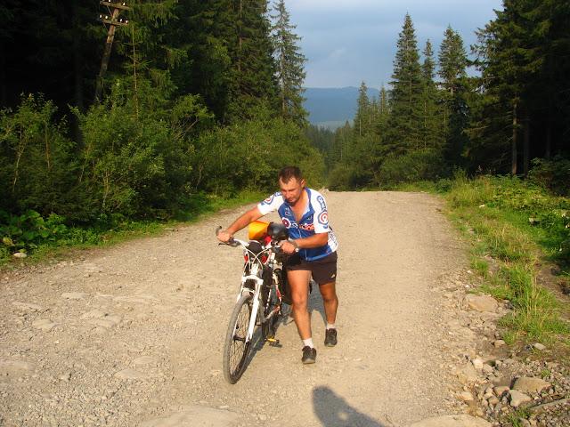 велосипед в гору