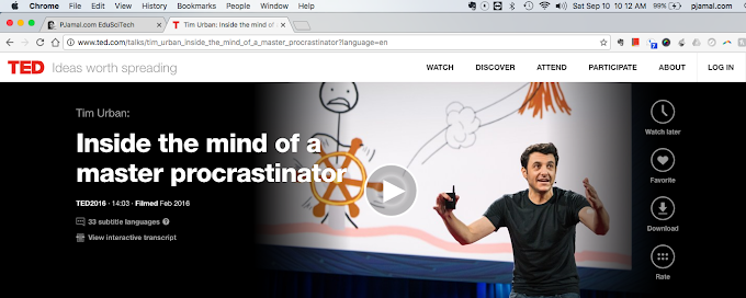 TedTalk: Inside the Mind of a Master Procrastinator