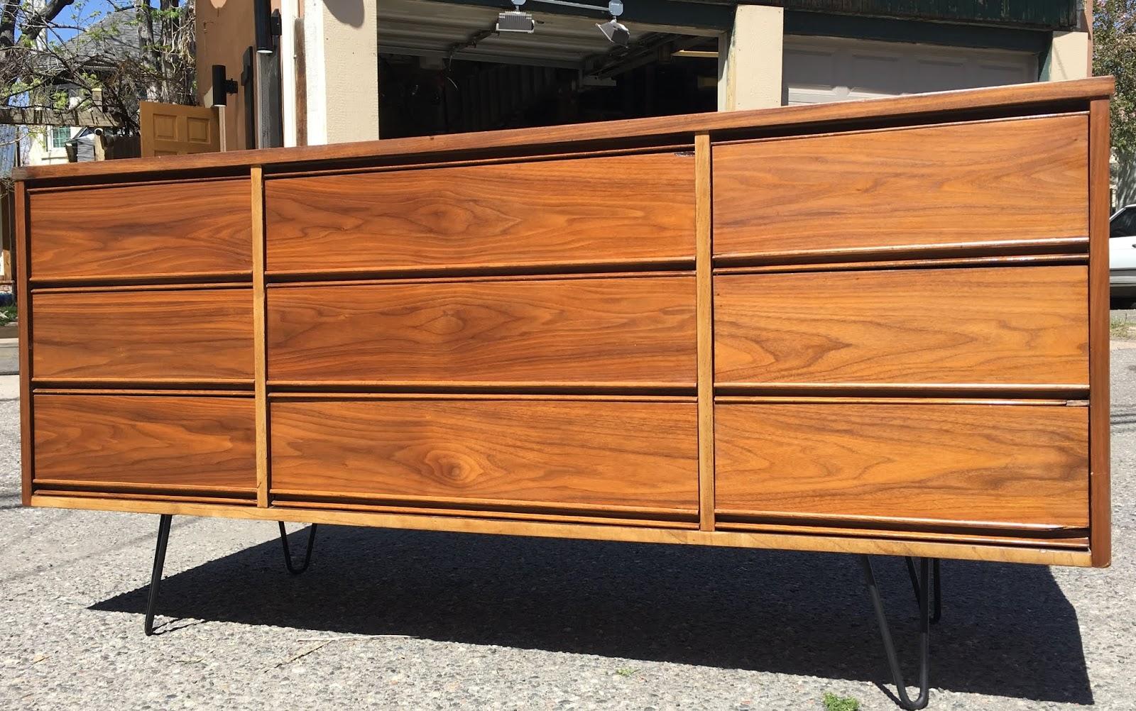 Dixie 9 Drawer Mid Century Dresser