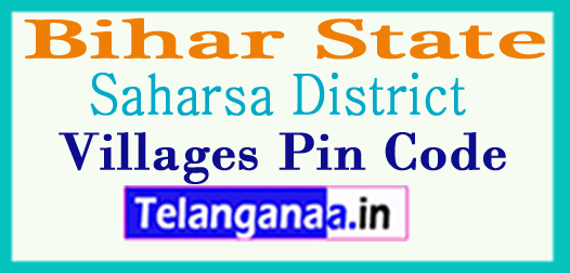 Saharsa District Pin Codes in Bihar State