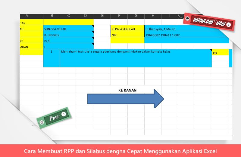 Cara Membuat RPP dan Silabus dengan Cepat Menggunakan Aplikasi Excel