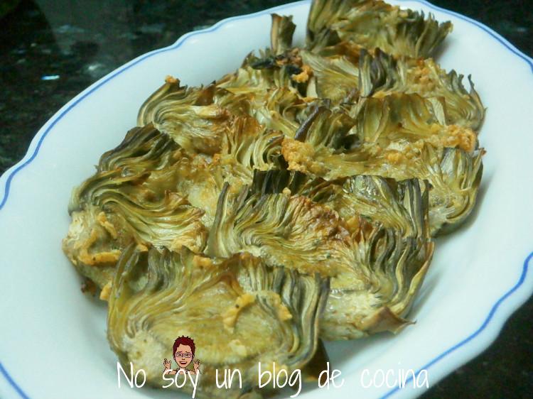 Láminas de alcachofas hechas al horno
