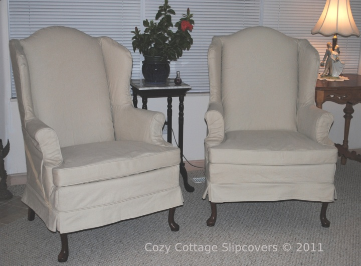 long sofa pet cover dining benches cozy cottage slipcovers: wingchair slipcovers