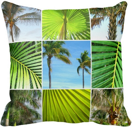 Palm Tree Photo Pillow