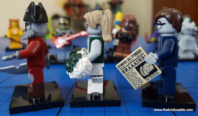 LEGO Minifigs series 14 review overview zombies side