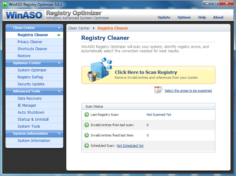 Get WinASO Registry Optimizer Free