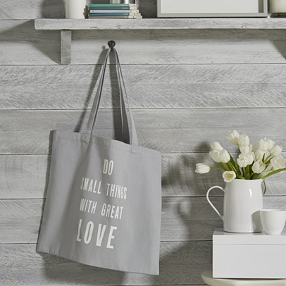 The White Company Do Small Things Grey Heart Shopper