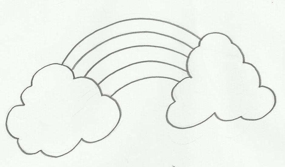 Desenho De Arco-ìris Para Colorir