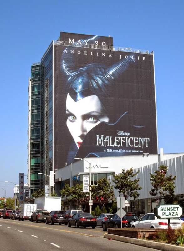Giant Maleficent movie teaser billboard