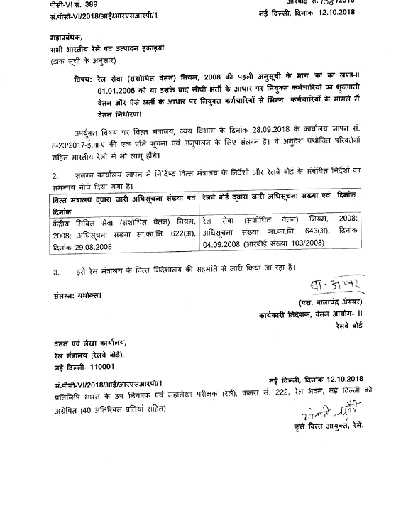 RB-order-regarding-entry-pay-for-direct-recruits-appointed-on-or-after-1.1.2006-hindi