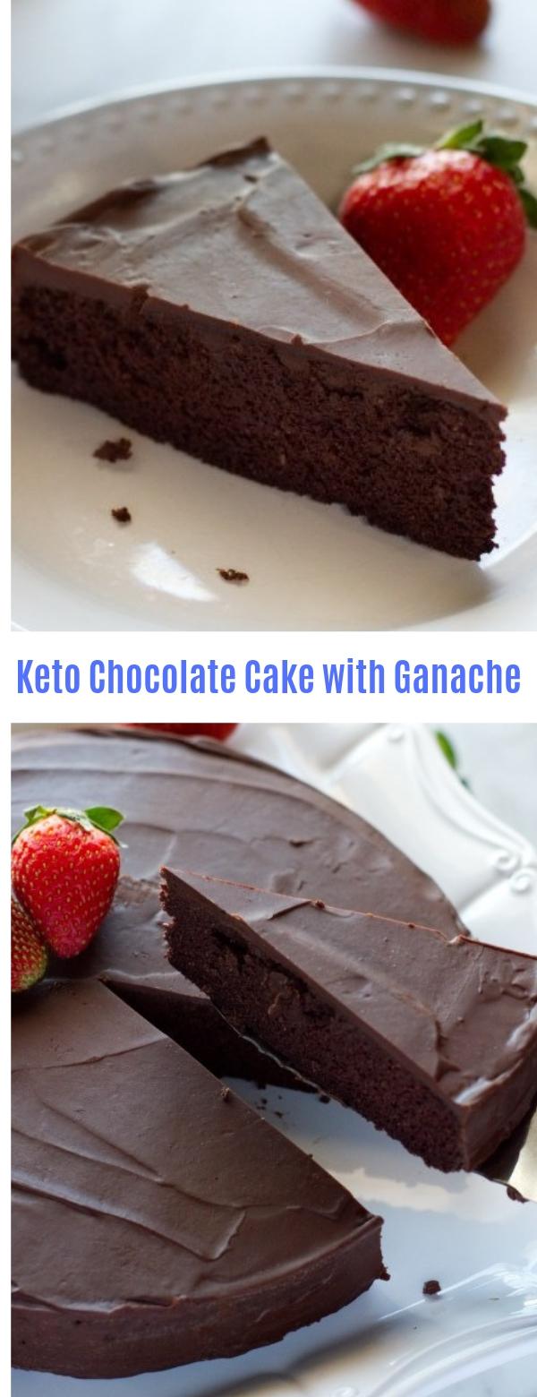 Keto Chocolate Cake with Ganache