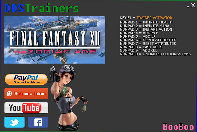 Final Fantasy XII The Zodiac Age Trainers and Cheats for PC