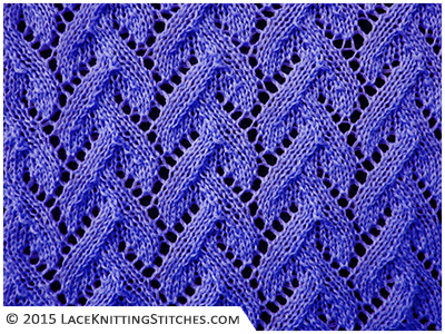 Lace knitting. Chart no.11 -  Multiple of 12 sts, + 8