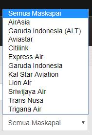 Maskapai penerbangan yang tersedia di AstianaGT