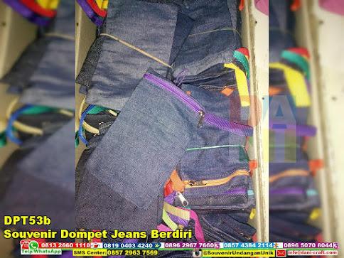 jual Souvenir Dompet Jeans Berdiri