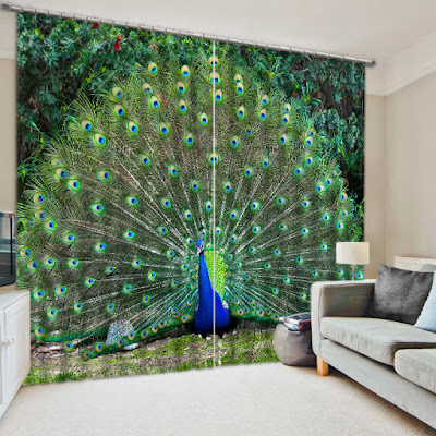 3D curtain design with high quality fabric