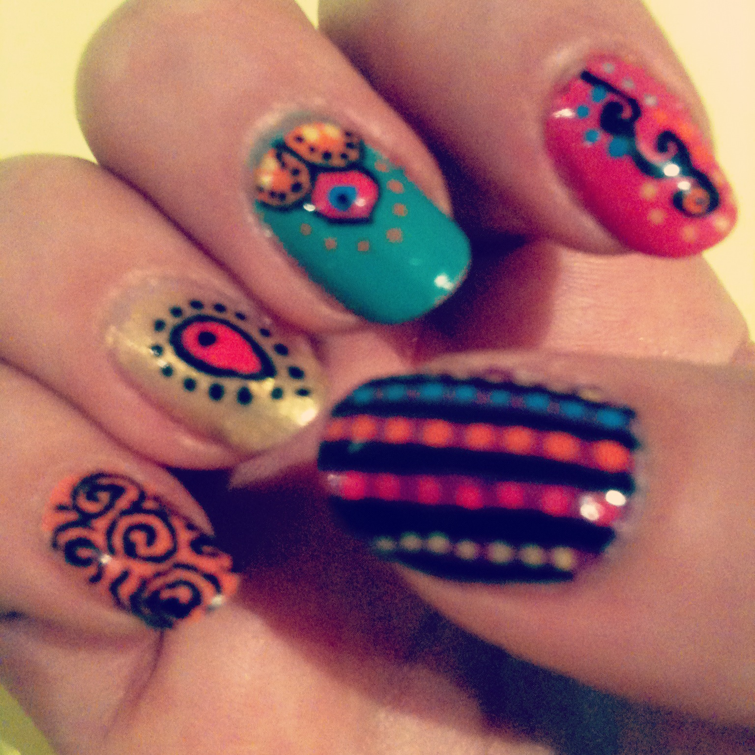 Magpie: Indian Themed Nail Art