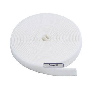 Image: MPI Fastening Tape 3/4 in One Wrap Velcro Hook + Loop Fastening Tape 5 yard/Roll - White (.75 in) - Double sided, one side hook, the other side loop. Just wrap around and it will fasten on to itself.