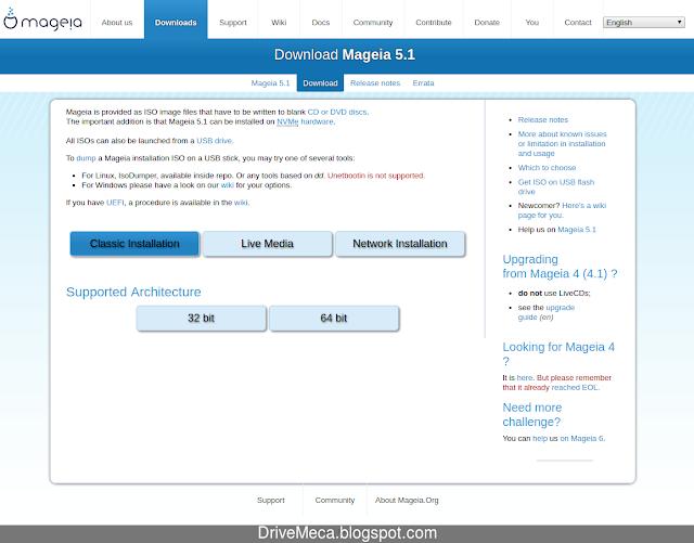 Tipos de descargas del ISO de Mageia Linux