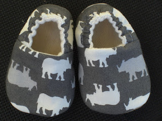 Baby Shoes, Rhinoceros, Brown, Baby Slippers, organic Lining, Baby Boy, Soft Sole baby Shoes, Crib Shoes, Baby shower