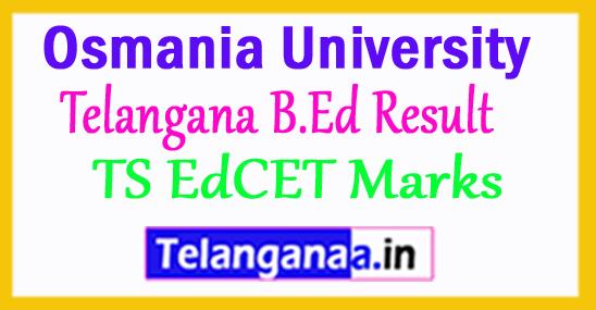Telangana B.Ed Result 2018 TS EdCET Marks