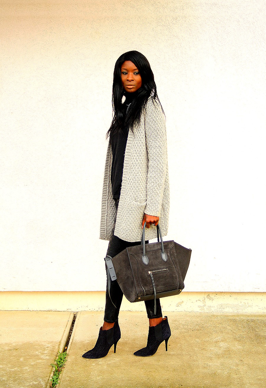 style blog celine phantom bag suede cardigan pimkie isabel marant boots