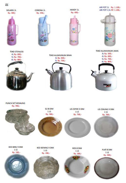 Arisan Barang Online Perabot Dapur Non Elektronik Terpercaya