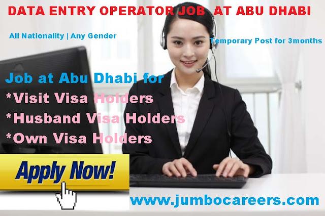 Visit visa jobs at UAE. Husband visa jobs at Abu Dhabi.