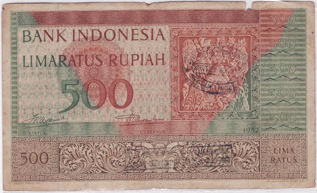 500 rupiah seri kebudayaan tahun 1952