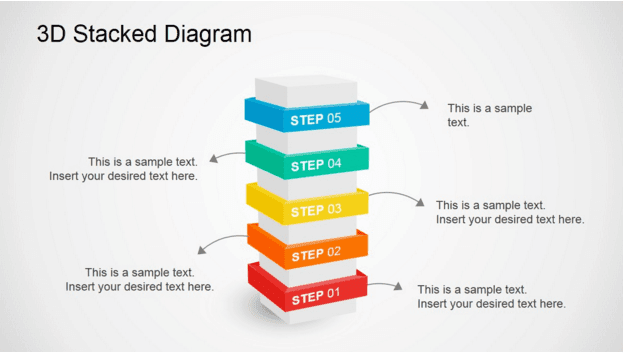 Slidemodel 3D Stacked Diagram