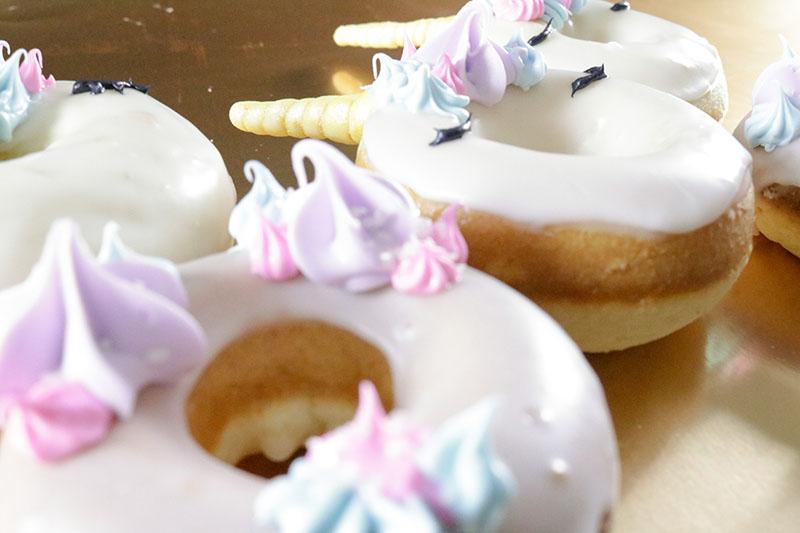 Unicorn doughtnuts laying down
