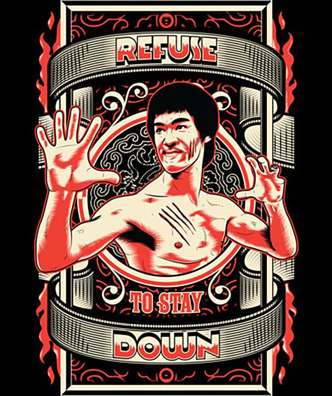 Roberlan (Brazil) - Bruce Lee art @ DesignByHumans