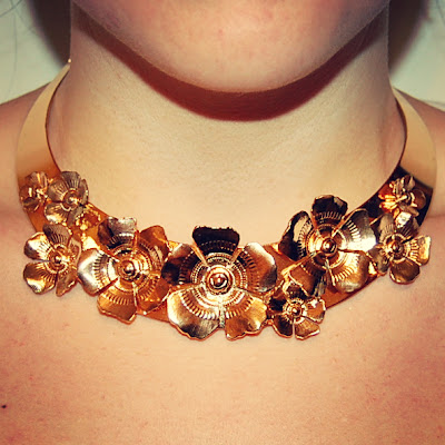 Gold floral collar