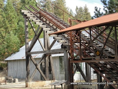 headframe at Empire Mine State Historic Park in Grass Valley, California