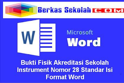 Bukti Fisik Akreditasi Sekolah Instrument Nomor 28 Standar Isi Format Word