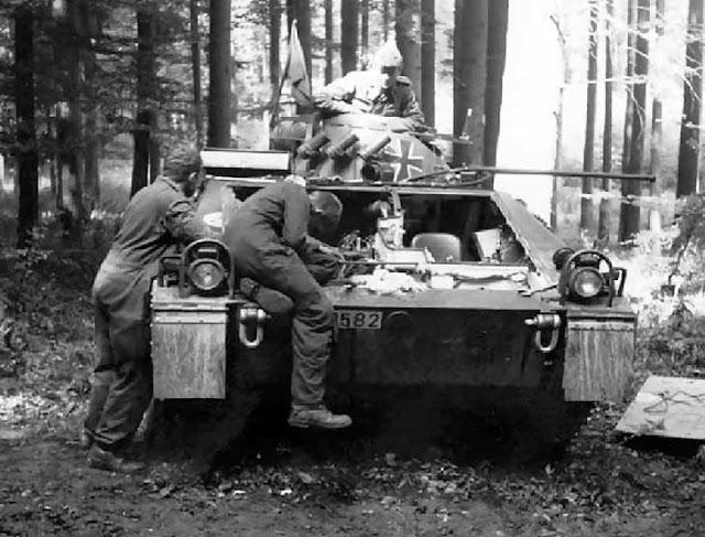 Боевая разведывательная машина Бундесвера SPz. 11-2 «Kurz» - ремонт в полевых условиях
