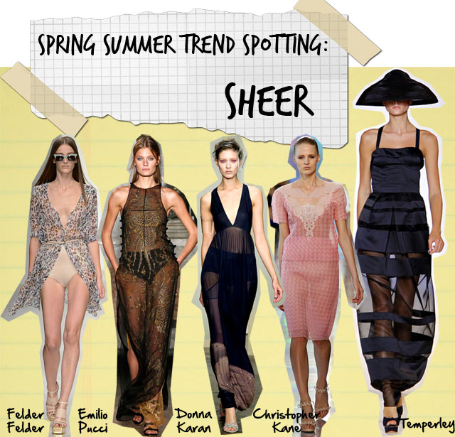 spring summer 2013 trends sheer