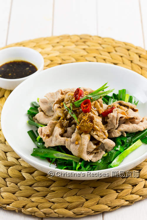 蒜泥醬肉片 Boiled Pork Slices with Garlic Sauce04